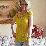 Одежда ручной работы. Ярмарка Мастеров - ручная работа Кофточка летняя желтая. Handmade.