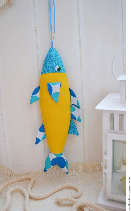 """Детская ручной работы. Ярмарка Мастеров - ручная работа. Купить Текстильная рыба """"Барракуда"""", рыбка из ткани. Handmade. Рыба текстильная"""