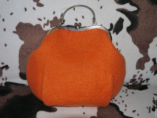 Женские сумки ручной работы. Ярмарка Мастеров - ручная работа. Купить Апельсинка. Handmade. Оранжевый, сумка ручной работы, огненный