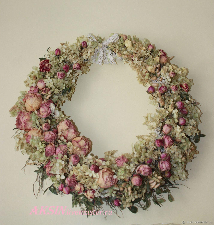 Декоративный венок в стиле шебби, Свадебные цветы, Котельники, Фото №1