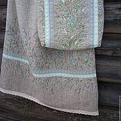 Одежда ручной работы. Ярмарка Мастеров - ручная работа Льняная юбка с ручной росписью....Нежность незабудки.... Handmade.