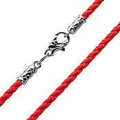 Украшения handmade. Livemaster - original item Silk red Lace, 3mm thickness. Handmade.