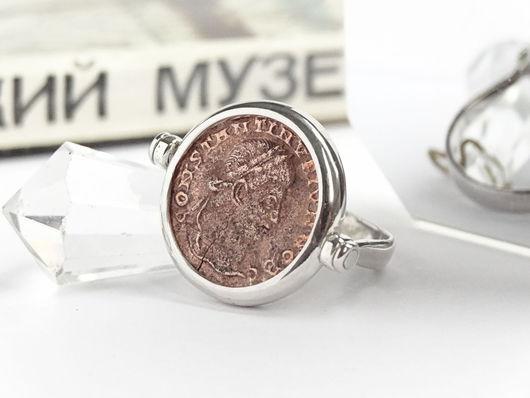 """Кольца ручной работы. Ярмарка Мастеров - ручная работа. Купить Серебряное кольцо """"Настоящая Монета"""". Handmade. Подарок женщине, антиквариант"""