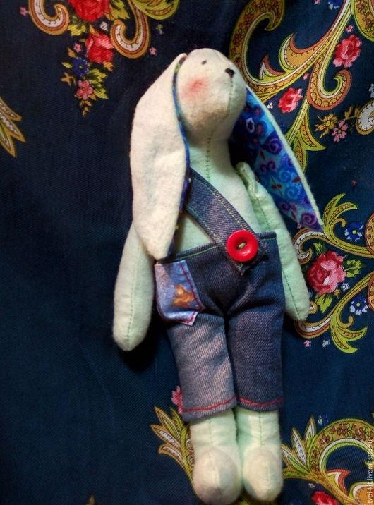 Куклы Тильды ручной работы. Ярмарка Мастеров - ручная работа. Купить Зайчик-красавчик. Handmade. Комбинированный, подарок, фланель для тедди
