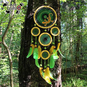 """Feng Shui handmade. Livemaster - original item Тотемный ловец снов """"Джунгли"""", 80 см. Handmade."""