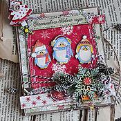 Открытки ручной работы. Ярмарка Мастеров - ручная работа Письмо - открытка от Дед Мороза. Handmade.