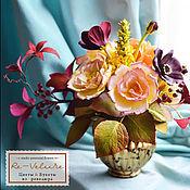 """Цветы и флористика ручной работы. Ярмарка Мастеров - ручная работа Букет в вазе """"La valse d`automne"""". Handmade."""