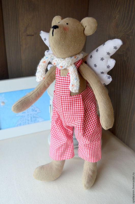 Куклы Тильды ручной работы. Ярмарка Мастеров - ручная работа. Купить Мишка-ангел в стиле Тильда. Handmade. Разноцветный