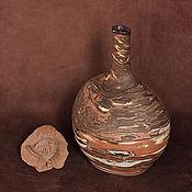 Для дома и интерьера ручной работы. Ярмарка Мастеров - ручная работа Ваза-бутылка Eclipse. Handmade.