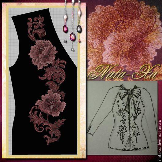 Needlework handmade. Livemaster - handmade. Buy Design for machine embroidery. Golden poppies.Designer jewelry, machine embroidery