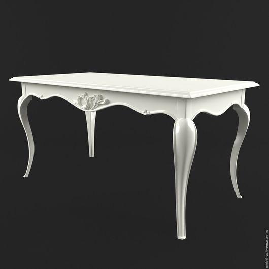 Мебель ручной работы. Ярмарка Мастеров - ручная работа. Купить Письменный стол в классическом стиле из массива. Handmade. Белый