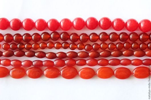 Для украшений ручной работы. Ярмарка Мастеров - ручная работа. Купить Агат красный. Handmade. Ярко-красный, агат бусины