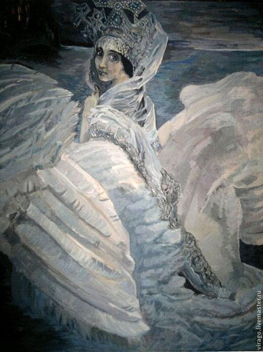 Картина - дверь в сказочные миры. Прекрасная дева с магнитическим взглядом и трепещущим взмахом серебристых крыльев