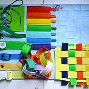 Куклы и игрушки ручной работы. Ярмарка Мастеров - ручная работа Развивающее панно А3 6в1. Handmade.