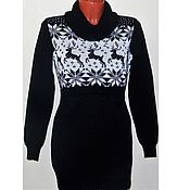 Одежда handmade. Livemaster - original item Sweater with reindeer and Norwegian ornament for feeding. Handmade.