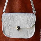 Сумки и аксессуары handmade. Livemaster - original item White handbag, Stylish genuine leather. Handmade.