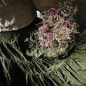 """Одежда ручной работы. Ярмарка Мастеров - ручная работа Льняная юбка """"Лес и мох"""". Заказать юбку.. Handmade."""