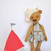 Куклы и игрушки ручной работы. Ярмарка Мастеров - ручная работа МИШКА ЕГОРКА!  Пошли пускать кораблики!!!. Handmade.