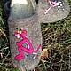 Обувь ручной работы. домашние валяные тапочки из натуральной шерсти Розовая Пантера. Кэт & Ко (6116466). Интернет-магазин Ярмарка Мастеров.