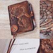 """Блокноты ручной работы. Ярмарка Мастеров - ручная работа Кожаный блокнот """"Ловец снов"""". Handmade."""