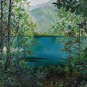Картины и панно handmade. Livemaster - original item Oil painting Landscape Abkhazia,the author`s work. Handmade.