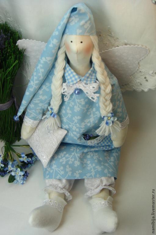 """Куклы Тильды ручной работы. Ярмарка Мастеров - ручная работа. Купить Ангел сладких снов в стиле Тильда сплюшка """"Цветные сны"""". Handmade."""