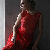 Одежда handmade. Livemaster - original item Red evening dress sleeveless.. - Share Sale Sample. Handmade.