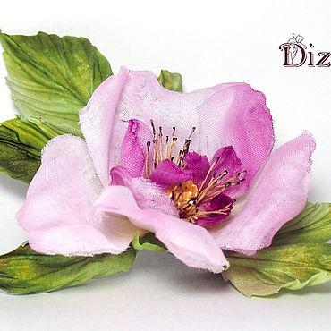 Flowers and floristry handmade. Livemaster - original item Rosehip flower. Silk flowers. FABRIC FLOWERS.. Handmade.