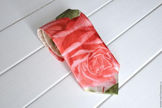 Галстуки, бабочки ручной работы. Ярмарка Мастеров - ручная работа. Купить Галстук Цветочный атласный шелк. Handmade. Галстук-бабочка