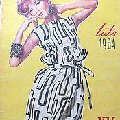 Винтаж ручной работы. Ярмарка Мастеров - ручная работа Журнал Swiat Mody лето 1964 № 60 на польском языке. Handmade.