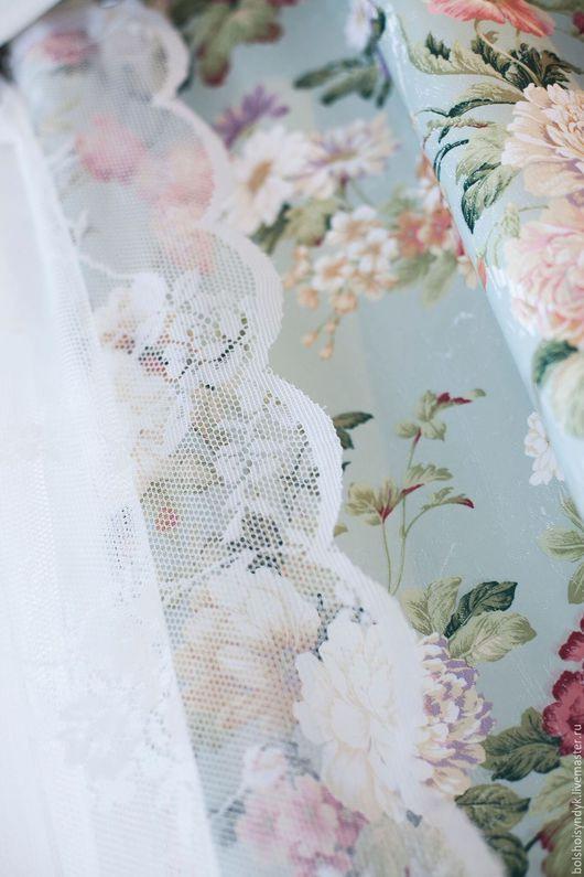 Текстиль, ковры ручной работы. Ярмарка Мастеров - ручная работа. Купить Мятный Прованс. Handmade. Мятный, шторы недорогие, цветы