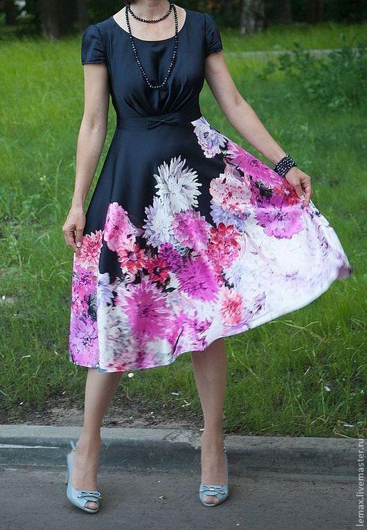 """Платья ручной работы. Ярмарка Мастеров - ручная работа. Купить Платье """"Цветочная Симфония"""". Handmade. Цветочный, ручная авторская работа"""