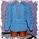 Одежда унисекс ручной работы. кофточка вязаная для девочки курточка вязаная. 'волшебный клубочек'. Интернет-магазин Ярмарка Мастеров.