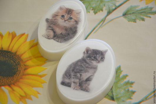 Мыло ручной работы. Ярмарка Мастеров - ручная работа. Купить Мыло-открытка Котята. Handmade. Кошки, мыло-открытка, для подруги