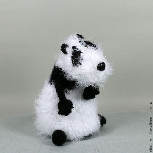 Игрушки животные, ручной работы. Ярмарка Мастеров - ручная работа. Купить Панда!. Handmade. Чёрно-белый, мишка ручной работы