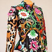 Одежда handmade. Livemaster - original item Exclusive women`s leather jacket with embroidery.. Handmade.