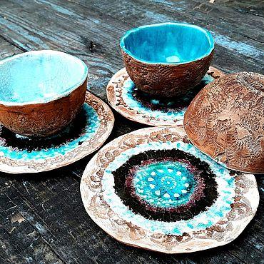 Посуда ручной работы. Ярмарка Мастеров - ручная работа Во имя Красоты - набор керамической посуды, чаны сервиз ручной работы. Handmade.
