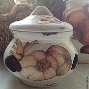 Для дома и интерьера ручной работы. Ярмарка Мастеров - ручная работа Горшочек для чеснока. Handmade.