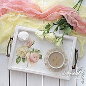 Для дома и интерьера ручной работы. Ярмарка Мастеров - ручная работа Поднос Шебби розы. Handmade.