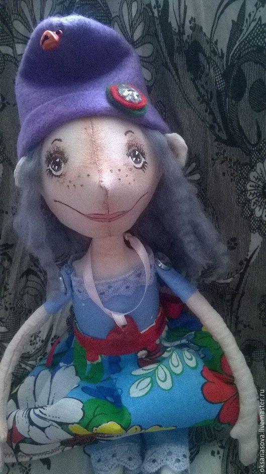Куклы тыквоголовки ручной работы. Ярмарка Мастеров - ручная работа. Купить Эльфочка Маруся. Handmade. Сиреневый, кукла текстильная, фетр