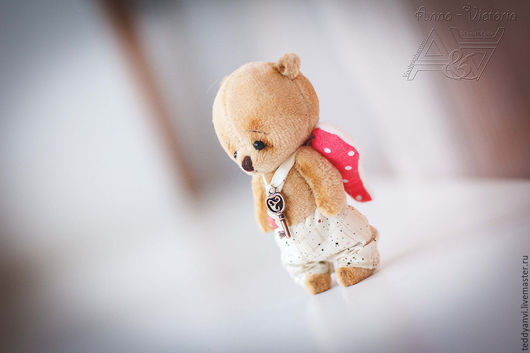 мишка тедди ангел от мира Воображариум-анви. Подарок на день влюбленных