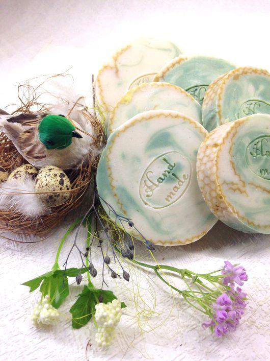"""Мыло ручной работы. Ярмарка Мастеров - ручная работа. Купить """"Алоэ и череда"""" натуральное мыло ручной работы.. Handmade. Мыло"""