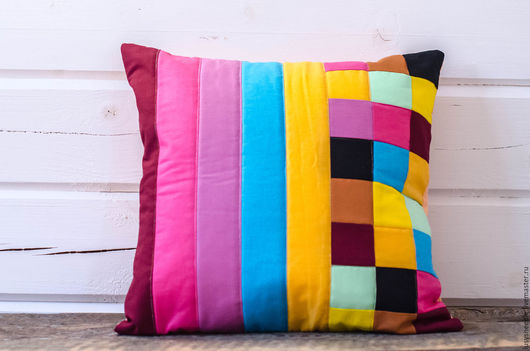 Текстиль, ковры ручной работы. Ярмарка Мастеров - ручная работа. Купить Декоративная подушка №7. Handmade. Розовый, подушка