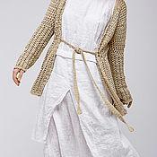 Одежда ручной работы. Ярмарка Мастеров - ручная работа Бохо платье 4-9 Белый. Handmade.