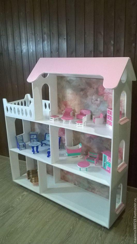 Кукольный дом ручной работы. Ярмарка Мастеров - ручная работа. Купить Кукольный домик стеллаж. Handmade. Белый, домик для кукол