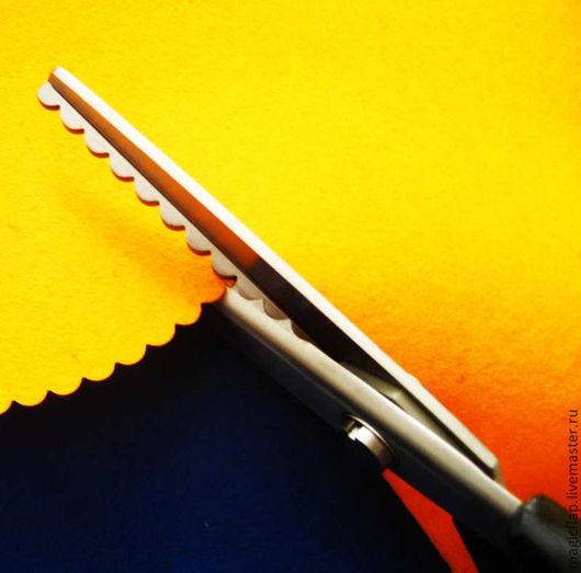 Шитье ручной работы. Ярмарка Мастеров - ручная работа. Купить Ножницы Волна фигурные для ткани, фетра, кожи, бумаги. Фестон 5 мм. Handmade.