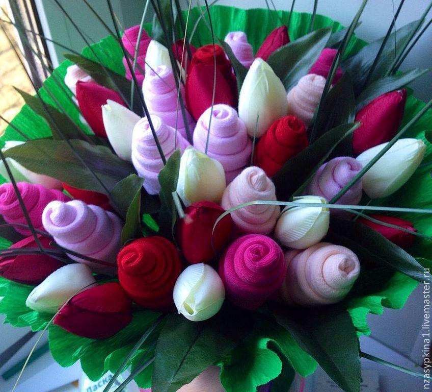 Тюльпаны для мамы своими руками 12