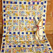 Детское одеяло ручной работы. Ярмарка Мастеров - ручная работа Лоскутное одеяло Смешные зверюшки. Handmade.