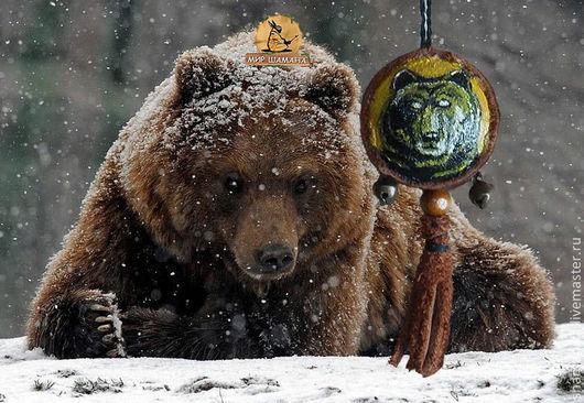 Обереги, талисманы, амулеты ручной работы. Ярмарка Мастеров - ручная работа. Купить Тотем Медведь. Handmade. Оливковый, медведь, тотем