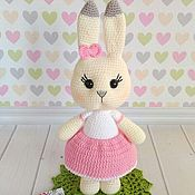 Куклы и игрушки handmade. Livemaster - original item A little Bunny rabbit Toy knitted Bunny. Handmade.